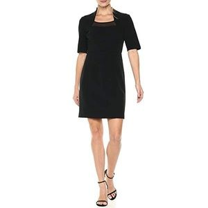 Lark & Ro women's elbow sleeve sheath dress